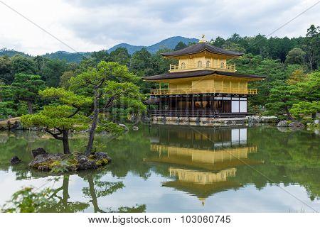 Temple of the golden pavillion (Kinkakuji) in Kyoto, Japan