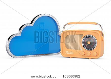 3D Cloud With Vintage Radio