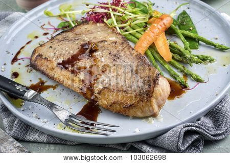 Saithe Fish Teriyaki with Vegetable