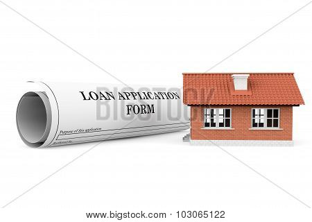 Loan Application Form With House