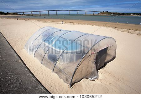 Very Small Indoor Swimming Pool On The Beach