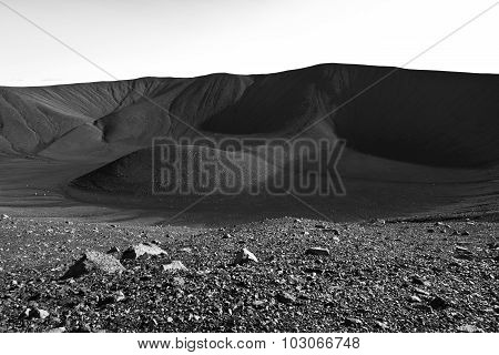 Hverfjall volcanic crater near lake Myvatn in Iceland