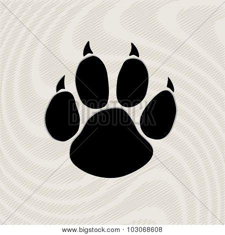 Animal paw prints icons