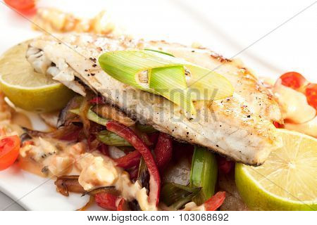 Fillet of Seabass with Vegetables and Lime