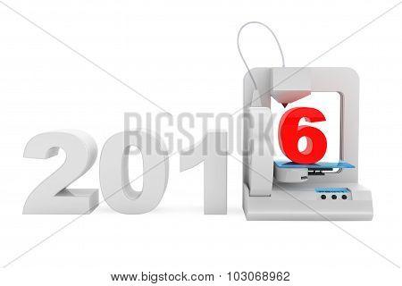 Modern Home 3D Printer Print New 2016 Year Sign