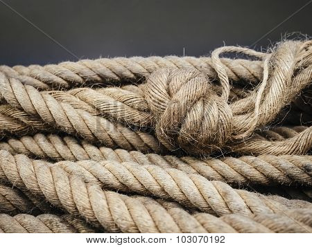 Rope With Knot Textured background