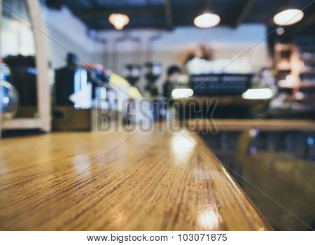 Counter Bar Restaurant Background With Bartender