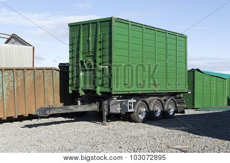 Lorry with equipment on the trailer
