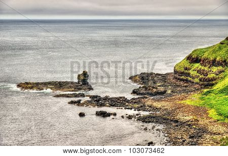 Irish Coastline Near The Giants Causeway, United Kingdom
