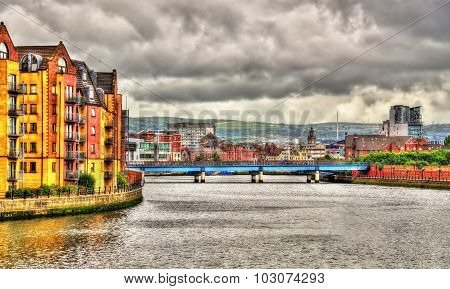 View Of Belfast Over The