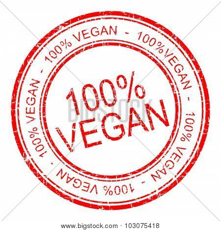 100% vegan rubber stamp