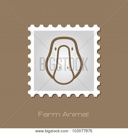 Goose stamp. Animal head vector illustration