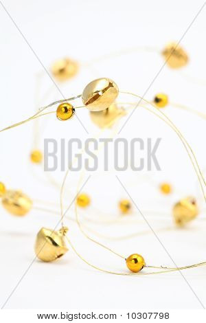 Gold jingle bell chain