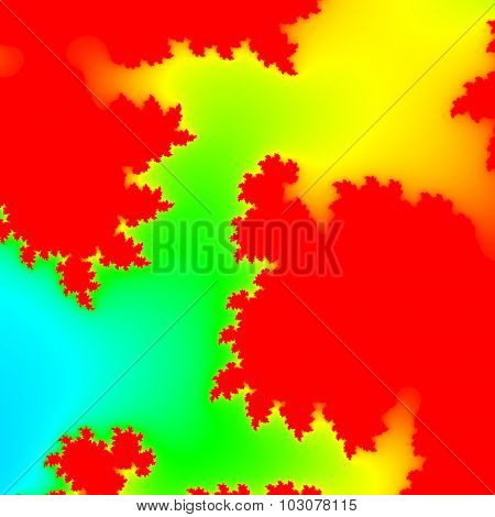 Infra Neon Fractal Pattern Texture Background - Red