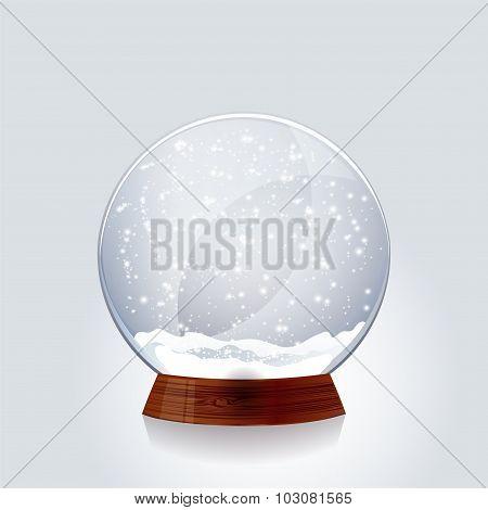 Christmas transparent snowglobe