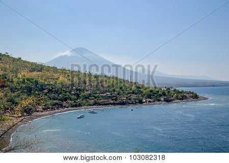 Volcano Agung In Bali, Indonesia