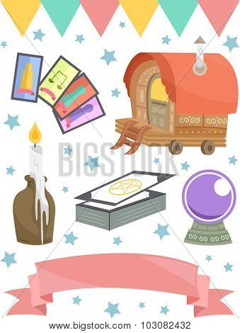 Grouped Illustration of Items Usually Associated with Gypsies