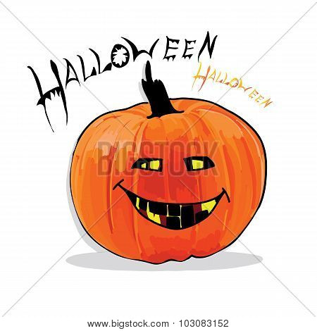 illustration of pumpkin for Helloween