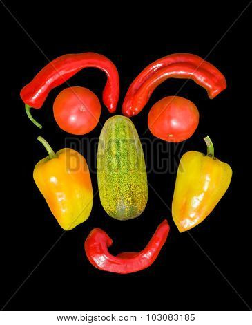 Face From Vegetables