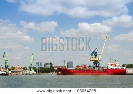 Barge boarding on Baltic sea