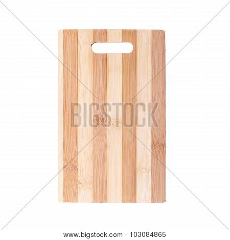 Cutting Board Made Of Striped Bamboo Planks