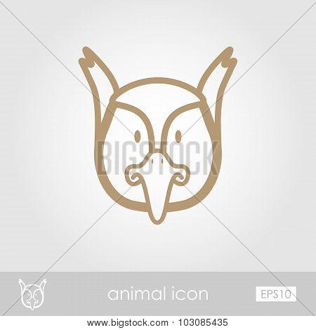Pheasant icon. Animal head vector illustration
