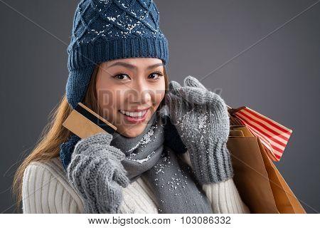Shopping In Winter Season