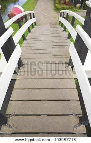 Wooden bridge.