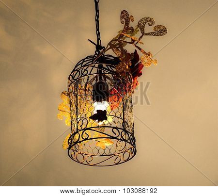 A Decorated Metal Lantern