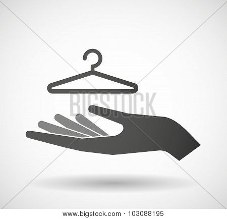 Isolated Hand Giving A Hanger