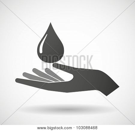 Isolated Hand Giving A Fuel Drop