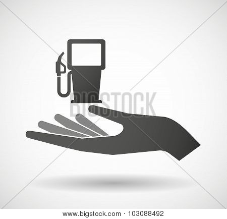 Isolated Hand Giving A Gas Station