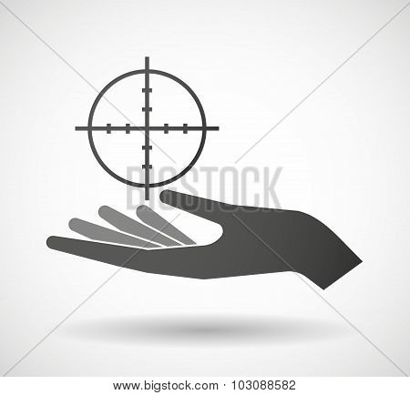 Isolated Hand Giving A Crosshair