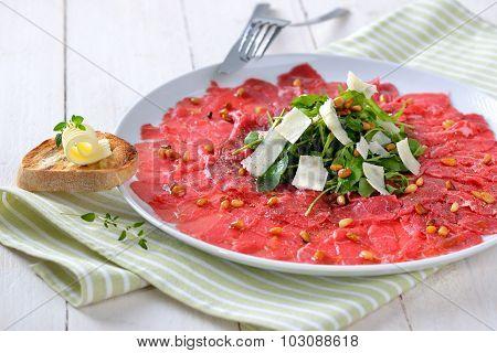 Carpaccio of beef