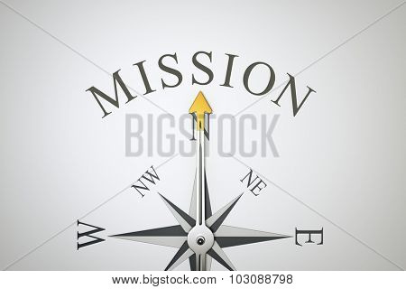 An image of a nice compass with the word mission