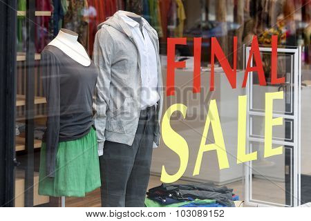 Final Sale In The Fashion Store