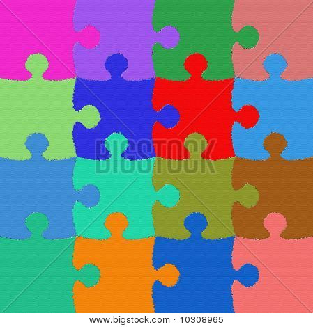Colorful And Texturized Puzzle