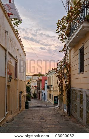 Plaka, the old town of Athens.