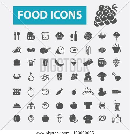 food, drinks, restaurant icons