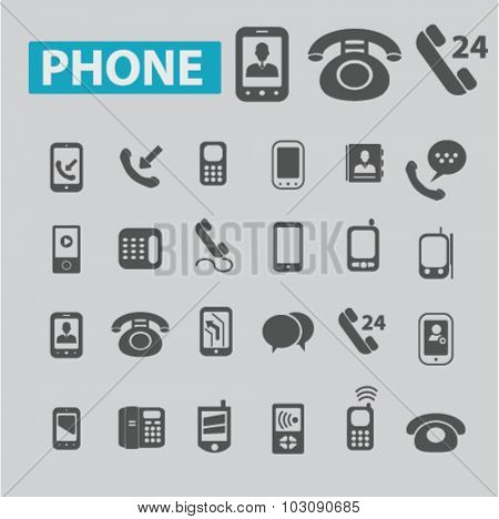 phone, mobile icons
