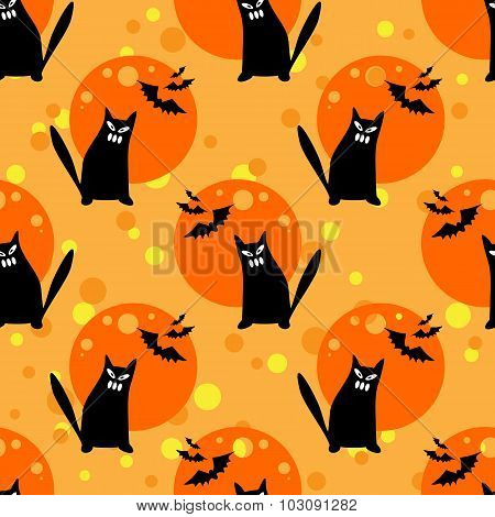 cat seamless pattern