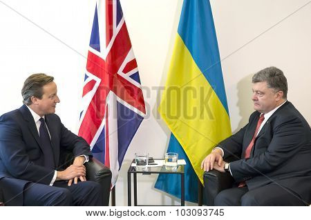 Petro Poroshenko And David Cameron In New York