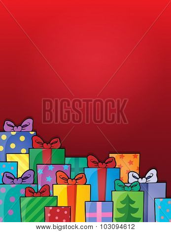 Image with gift theme 6 - eps10 vector illustration.