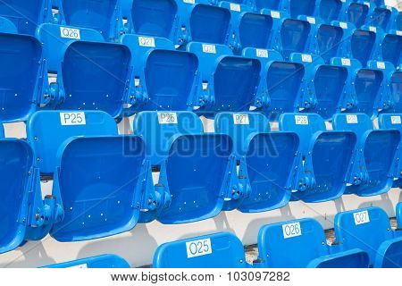 Amphitheater Of Blue Seats