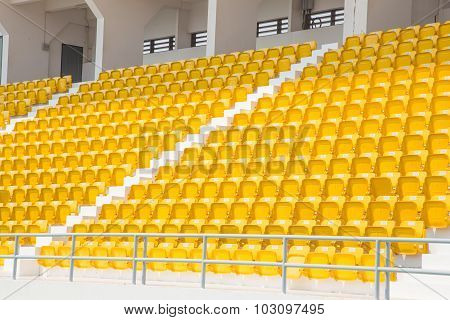 Amphitheater Of Yellow Seats