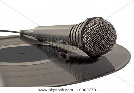 Microphone Over Vinyl