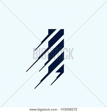 I Letter Logo Design Template.