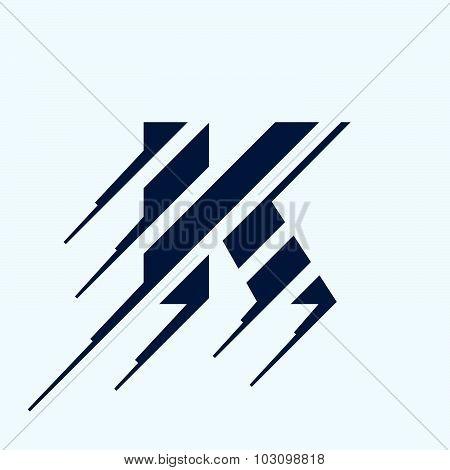 K Letter Logo Design Template.