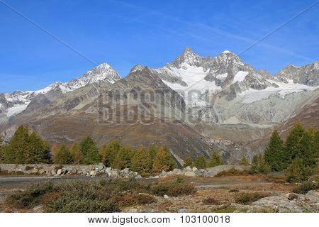 Mt Weisshorn And Yellow Larchs