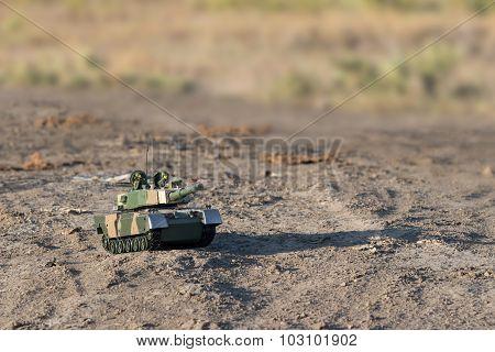 tank in desert